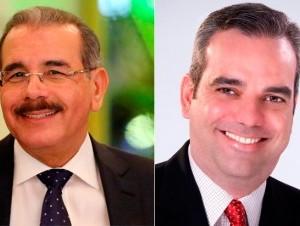 Danilo Medina y Luis Abinader.