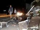 Horas antes del nuevo terremoto, los residentes de la zona seguían conmocionados por el movimiento del jueves que derrumbó construcciones y dejó a nueve personas muertas.