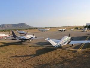 Durante fly in en aeródromo de Montecristi.