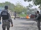 Agentes policiales repelieron las acciones de los manifestantes.