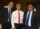 José Ventura, Luis Trigo y Emilio Pérez.