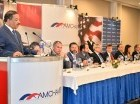 El presidente de la Junta Central Electoral, Roberto Rosario, participó como orador al almuerzo mensual de la AMCHAMDR.