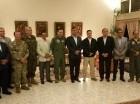 El ministro  de Defensa Nacional de Chile, José Antonio Gómez, acompañado de altos oficiales de las Fuerzas Armadas, durante una recepción en la Embajada de esa nación en República Dominicana.