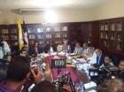 Durante la segunda reunión gobierno-médicos.