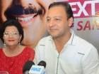 El presidente de Acroarte, Jorge Ramos C., y los cantantes urbanos Shadow Blow, Mozart La Para y Secreto. Cortesía: Elvys Joe