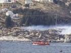 El helicóptero se dirigía del yacimiento de petróleo Gullfaks B, en el Mar del Norte, a Bergen, a unos 120 kilómetros (74 millas) de Noruega continental.