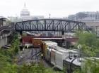 Vagones volcados después de que un tren de CSX se descarriló en Washington