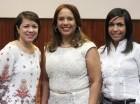 Verónica Rodríguez, Catherine Vásquez y Dilia  Barcácel.