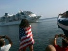El barco Adonia, de la compañía de cruceros Carnival Corp, llegó ayer a La Habana.