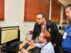 Técnicos de la JCE trabajan para solucionar dificultades detectadas en prueba.