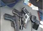 Pistolas recuperadas por la Policía Nacional.