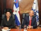 Rubén Jiménez junto a Marilyn Brito durante el encuentro con la misión.