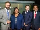 Edmundo Aja, Aura Domínguez, Simone Farci y Exmin Carvajal.