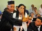Martha Heredia no pudo contener las lágrimas de alegría tras escuchar el fallo del juez de Ejecución de la Pena,  Rubén Darío de la Cruz Uceta.