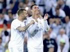 Jese Rodríguez y Cristiano Ronaldo celebran la victoria del Real Madrid.