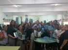 Durante la puesta en circulación de Editorial Santuario y la Comisión Civil de Desarrollo de la Provincia La Altagracia (COCDEPAL).