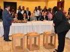 El presidente de la JCE se reunió con miembros de la Sociedad Dominicana de Diarios para hablar sobre el proceso electoral.