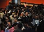 Tumulto en la estación del Metro.