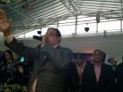 Milciades Danilo Sánchez durante la juramentación y lanzamiento del Movimiento Al Frente con Danilo en Higüey.