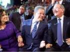 Margarita Cedeño de Fernández, Leonel Fernández y Danilo Medina.