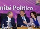 Danilo Medina, Leonel Fernández y Margarita Cedeño en un acto del PLD.