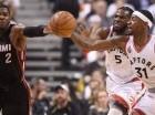 Acción del juego entre Toronto y Miami.