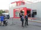 Seguridad en la estación Estación Eduardo Brito.
