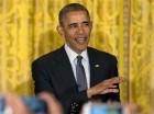 El presidente Barack Obama habla durante la recepción del 5 de Mayo en la Sala Este de la Casa Blanca el jueves 5 de mayo de 2016 en Washington.