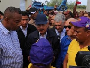 El presidente Medina supervisó las zonas del Sur afectadas por las lluvias.