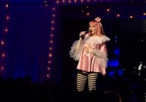 La cantante durante el show