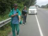 Peregrinos del PRD siguen su travesía a pie en reclamo Danilo atienda a su militancia