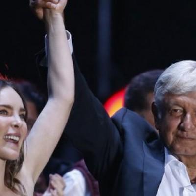Belinda y López Obrador