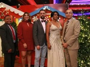 Luis Manuel Tejada, Wendelyn Issa, Jorge Santos, Selenia Báez y Diómedes Acosta.