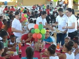 Niños de Acción Callejera disfrutaron la actividad.