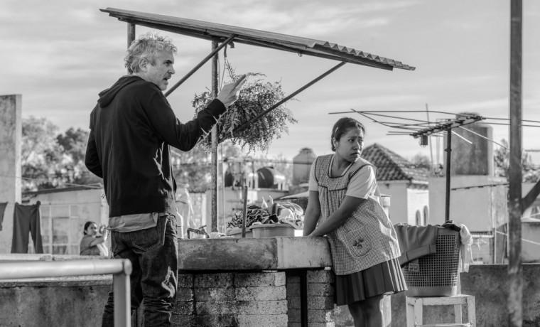 Alfonso Cuarón durante el rodaje de