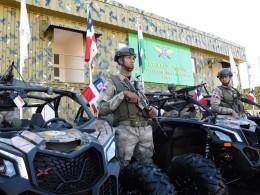 Militares en labores de vigilancia en el nuevo local de la Fuerza de Tarea Conjunta e Interagencial Copey.