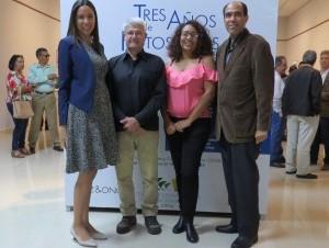 Melany Rodríguez, Juan Carlos Velaz, Ginna Ozuna y César Payamps.