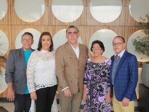 Chiqui Hadad, Nerys Díaz, Chicomon Pérez, Olga Cruz y Héctor Guzmán.