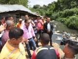 Alcalde Abel  Martínez  inicia importantes  obras  en Los Salados y Barrio Los Santos