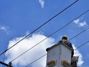 Trabajos de electricidad.