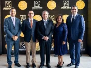 Juan Carlos Padilla, Jorge Arbaje, Gustavo Ariza, Nurys Marte y Leandro Sebele.