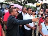 Comunitarios La Canela visitan acueducto en construcción