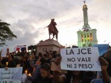 Protestan por destitución jueces JCE