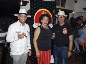 Aldo Paula, Katherine de la Paz González y David Pichardo.